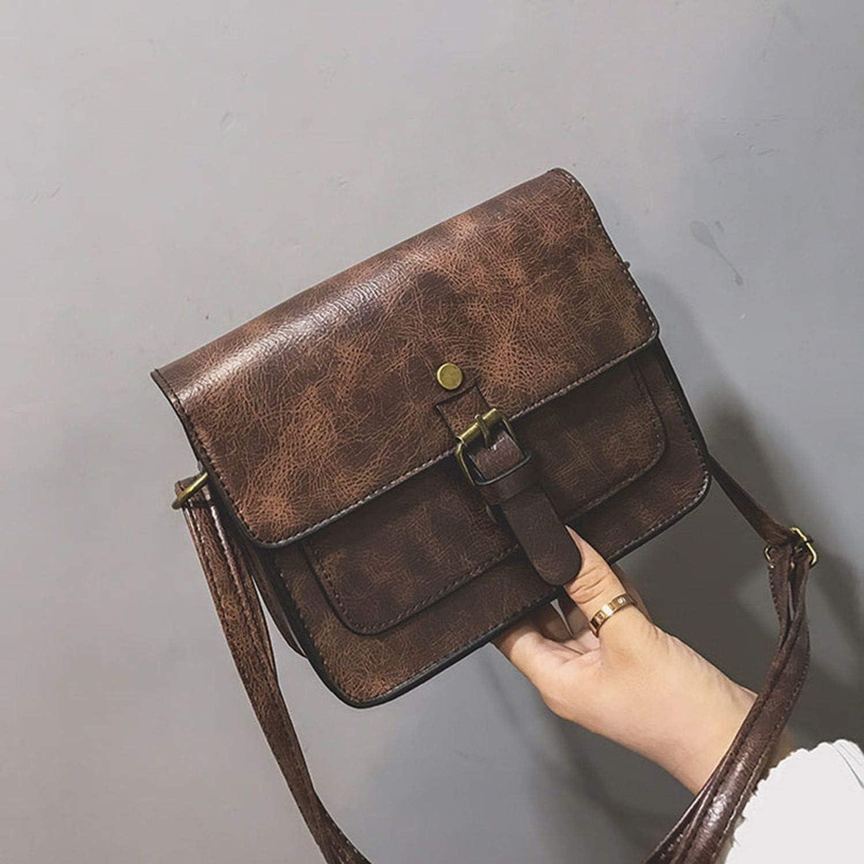 Vintage Women Flap Leather Shoulder Bags Lady Crossbody Messenger Bag