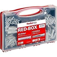 Fischer 040991 assortimentsbox RED-Box met universele pluggen UX en spreidpluggen SX-voor talrijke bouwmaterialen en…