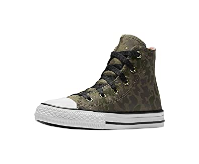 92ed03bfaa Amazon.com | Converse All Star Hi Surplus Crimson Pulse Camo Girls Kids  Youth Shoes Hi top | Sneakers