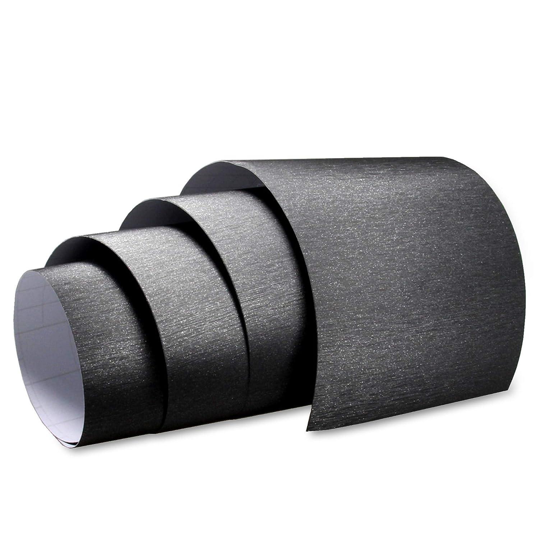 Aluminium gebü rstet Folie Titan Grau AutofolieBLASENFREI 0, 3m x 1, 52m mit Luftkanä le TipTopCarbon