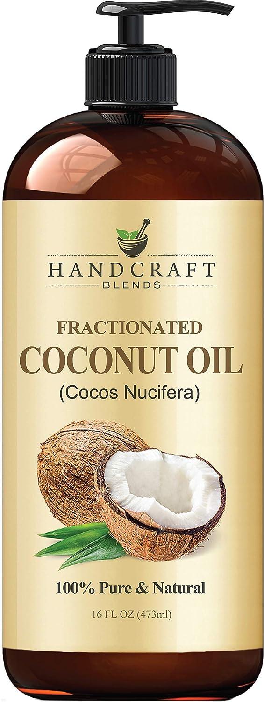 Fractionated Coconut Oil - 100% Pure & Natural Premium Grade Coconut Carrier Oil for Essential Oils, Massage Oil, Moisturizing Hair Oil & Body Oil