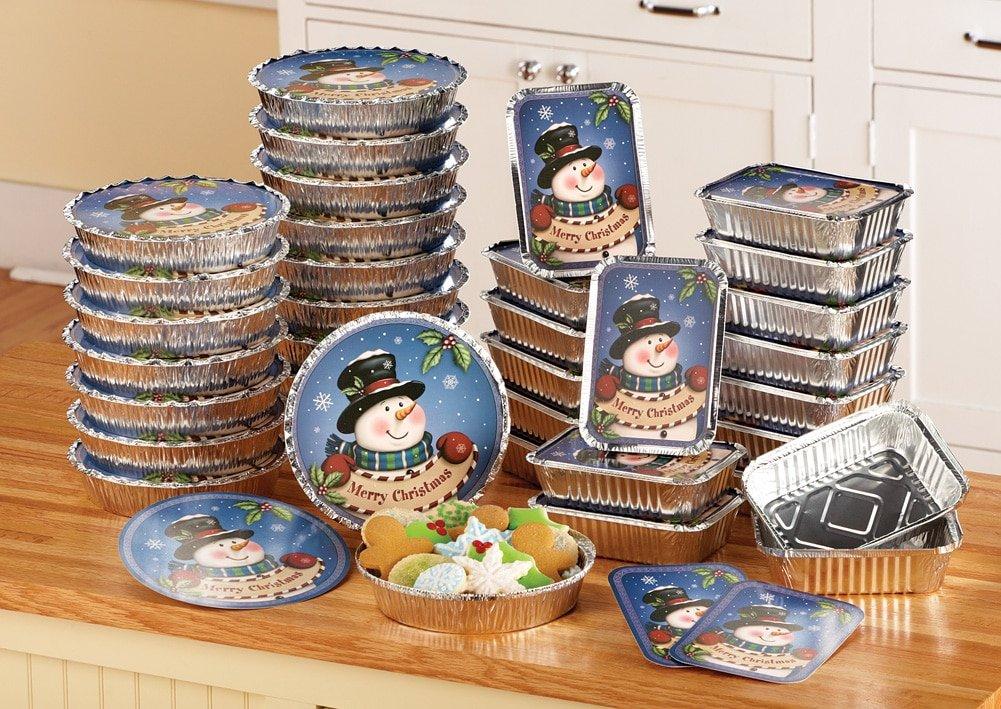 Amazon.com: Christmas Snowman Foil Treat Containers - 36 pc ...