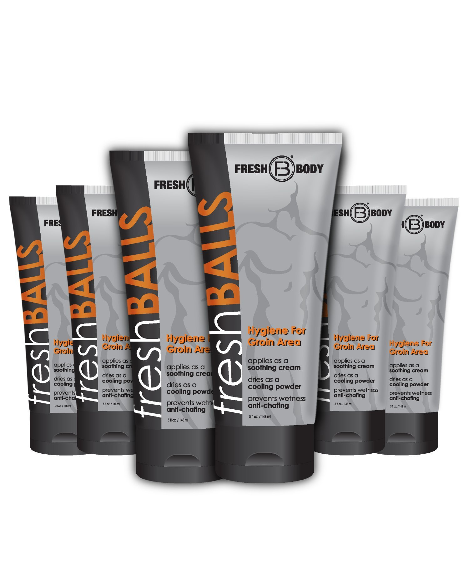 FRESH BALLS Male Hygiene Antiperspirant Lotion 3.4 oz 6 PACK by Fresh Body FB