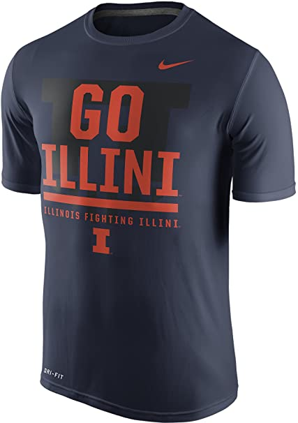 Amazon.com: Nike Illinois Fighting Illini Go Local Verbiage Legend Dri-FIT  Mens T-Shirt (Navy Blue, XL): Sports & Outdoors