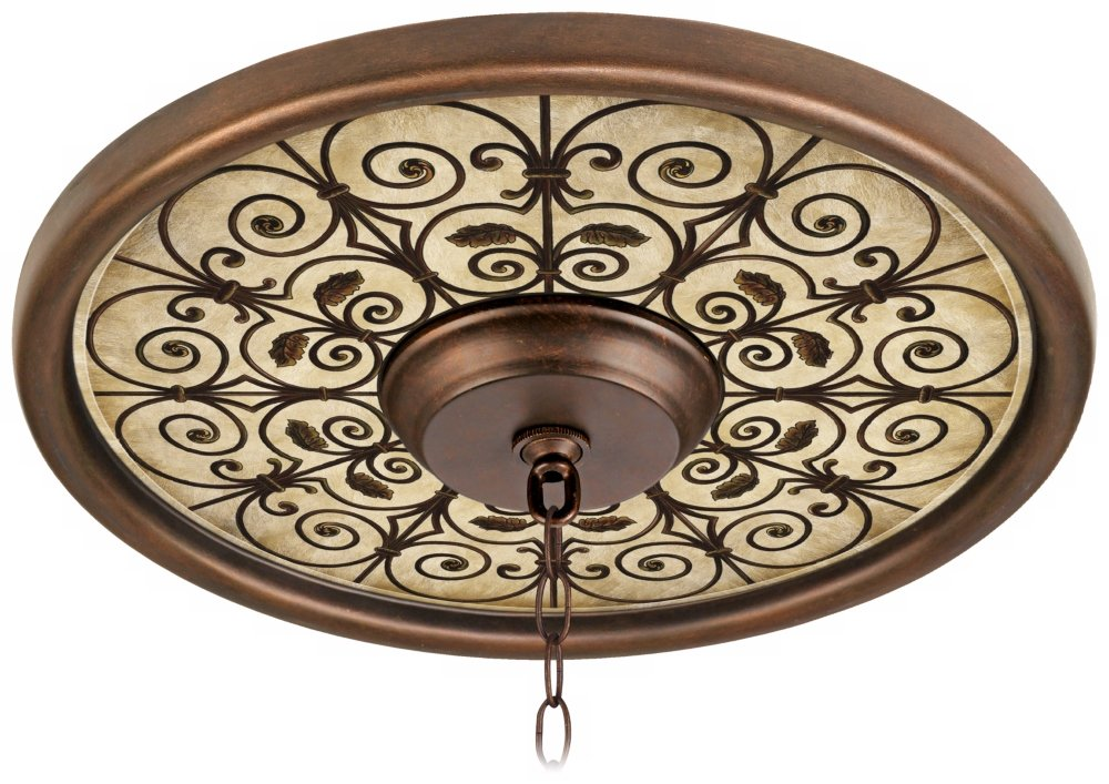 Madrid Clay 16'' Wide Bronze Finish Ceiling Medallion by Universal Lighting and Decor