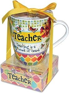 Divinity Boutique 23780 Ceramic Mug And Memo Pad Teacher, Multicolor