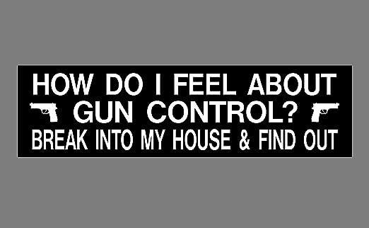 Amazon com anti gun control bumper sticker 3 x 11 how do i feel about gun control automotive