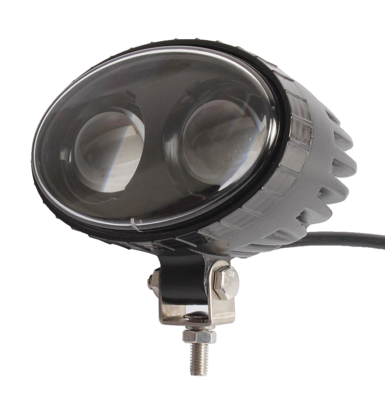 AutoPartsPro 8W 5.5 Inch CREE LED Forklift Safety Truck Lights Blue Spot Light Safe Warning Lamp IP68 Aluminium Alloy Housing