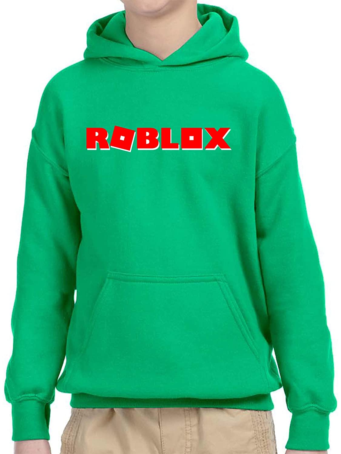 New Way 922 - Youth Hoodie Roblox Logo Game Filled Unisex Pullover Sweatshirt