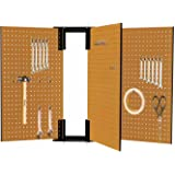 """16""""x24"""" 3 Pc Moveable """"swinging Door"""" Peg Boards For Tool Storage On Both Sides"""