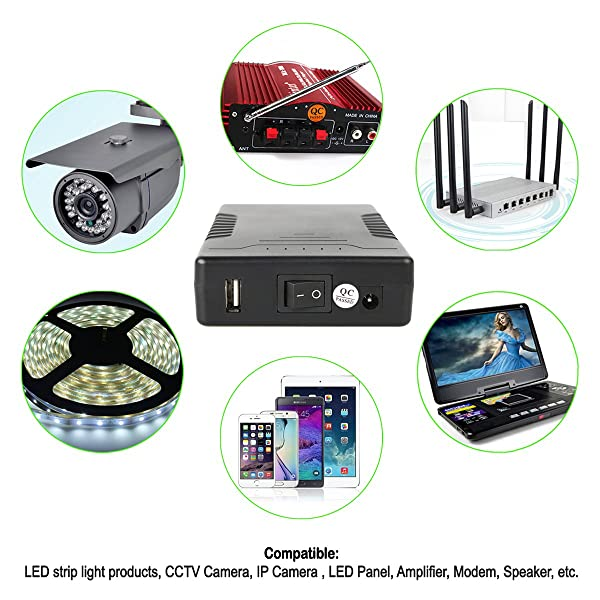 TalentCell - Rechargeable Lithium-Ion Battery is compatible with many household devices