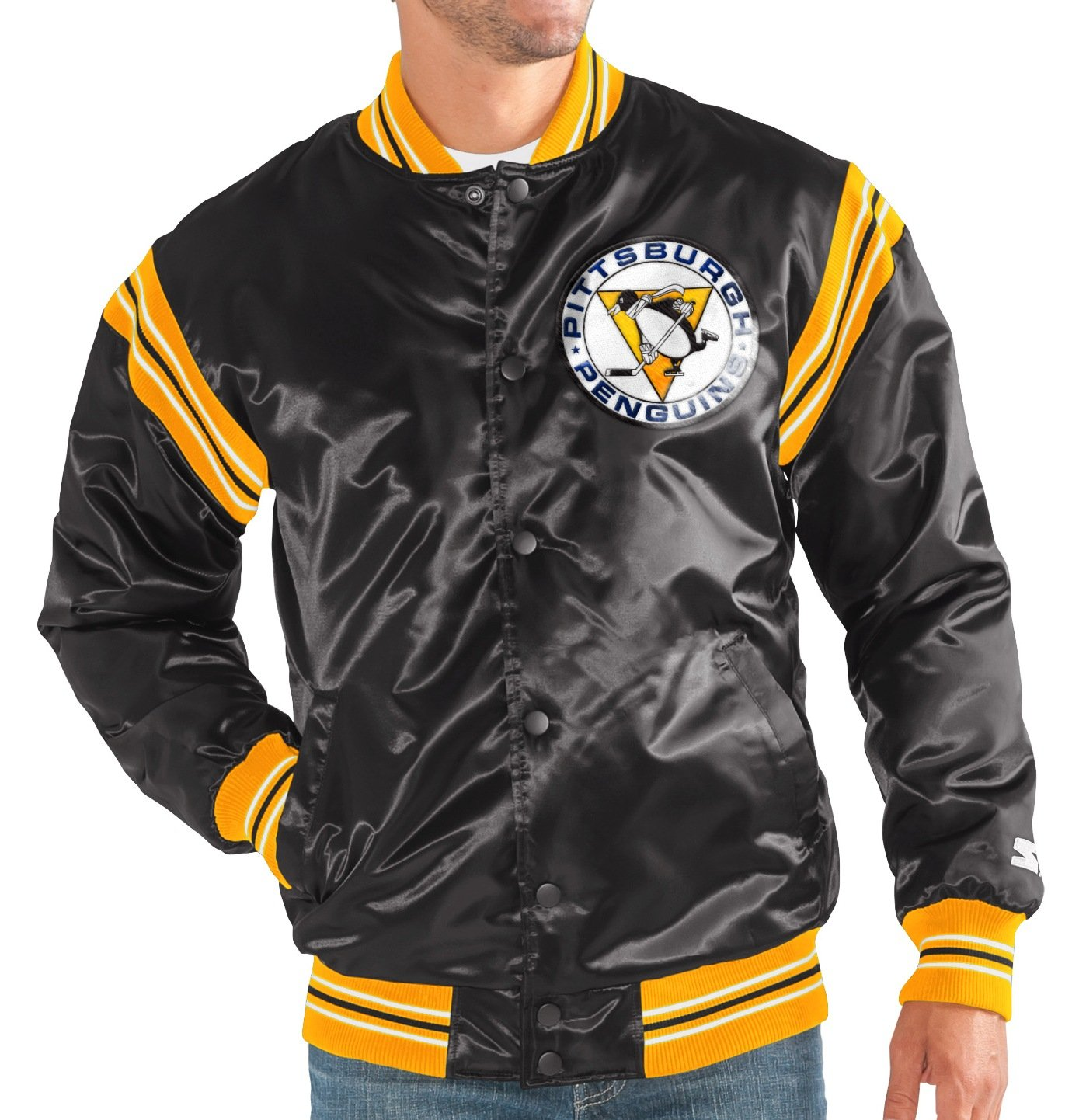 Pittsburgh Penguins NHL Men's Starter The Enforcer Premium Satin Jacket