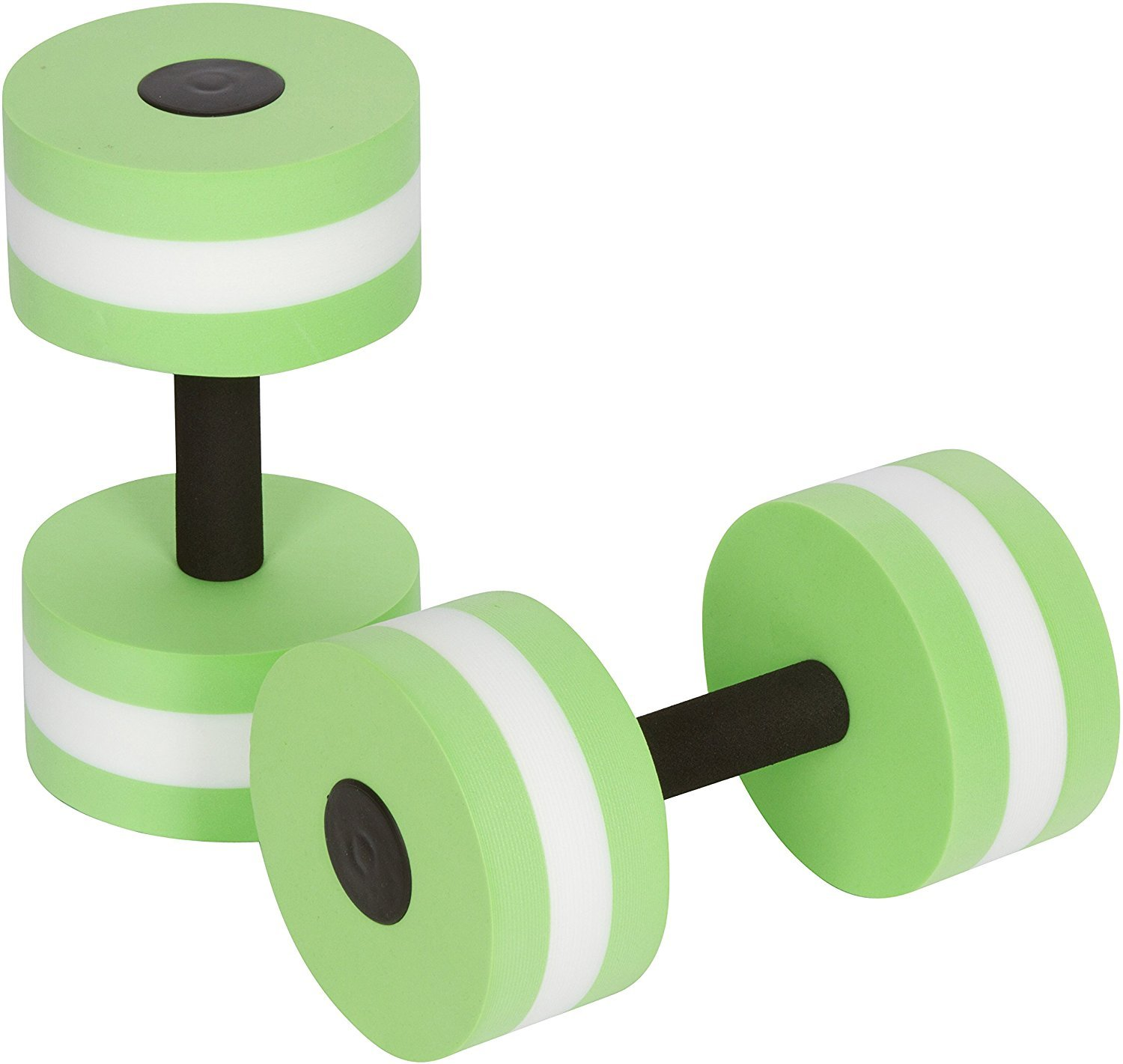 MonstGear Water Aerobics Dumbbell Medium EVA Foam Aquatic Barbell Fitness Pool Exercise-GREEN