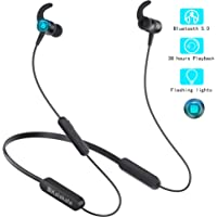 Wireless Headphones, Kalakate Bluetooth 5.0 Sport Earbuds, IPX6 Waterproof in-Ear Earphones with 30 Hours Playtime, HiFi Stereo Running Headphones with Magnetic Connection & Built-in Mic