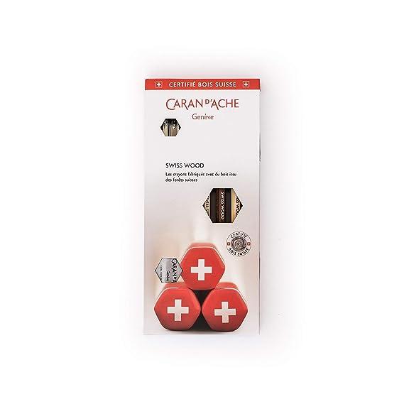 Amazon.com: Caran dAche 3 Pack Swiss Wood Pencil Gift Set (3 HB Graphite Pencils, Eraser & Sharpener)