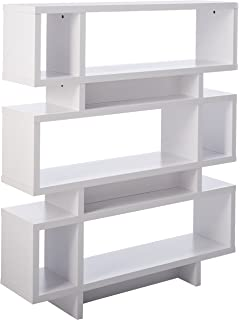 monarch specialties hollowcore high modern bookcase 55inch white