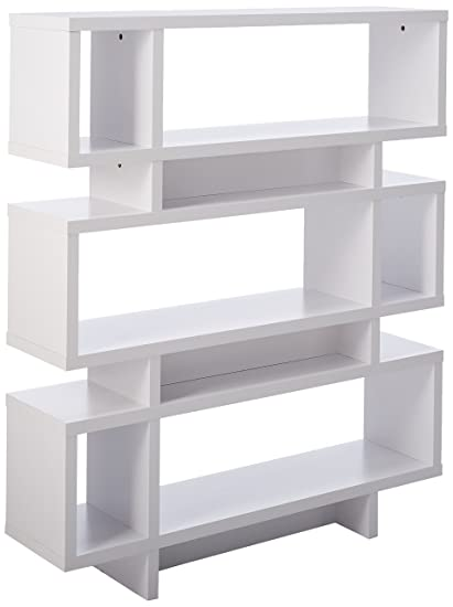 Monarch Specialties Hollow Core High Modern Bookcase 55 Inch White