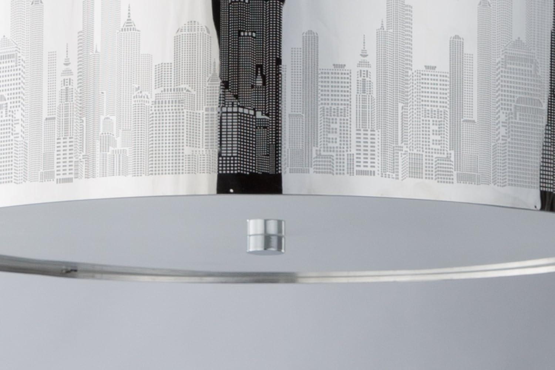 XXL Skyline Luxus Hängelampe | Hängeleuchte New York | Deckenlampe | Lampe  50cm | Lounge | Wohnzimmer | Esszimmer | Schlafzimmer | Chrom | Dimmbar |  LED ...