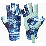 Snowvan UV Protection Fishing Gloves for Men and Women, UPF50+ Sun Fingerless Gloves for Sailing, Cycling, Boating…
