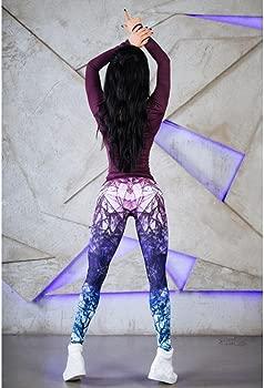 Pantalones Yoga Mujeres, Xinantime Pantalones de Yoga para Mujer Leggings elásticos de Fitness Púrpura