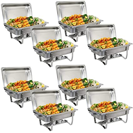 Amazoncom Bbbuy 8 Quart Full Size Chafer Stainless Steel Chafing