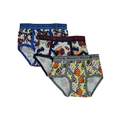 Beverly Hills Polo Club Little Boys' Toddler 3-Pack Briefs