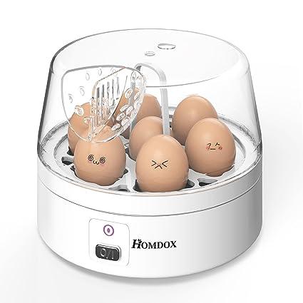 Homdox Hervidor de Huevos Eléctrico Cuece 7 Huevos