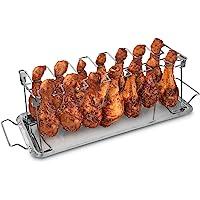 Navaris Soporte para muslos y alitas de pollo - Apoyo de acero inoxidable para piezas de pollo - Accesorio de parrilla…