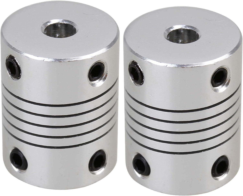 Wellenkupplungs-Transfergelenkadapter 5-teiliger Motor-Kupfer-Wellenkupplungskupplungs-Verbindungsh/ülsen-Transfergelenkadapter 3.175-5mm