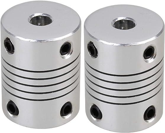 Power Transmission Flexible Clamp Jaw 3D Printer Shaft Coupling CNC Stepper Motor Coupler Encoder Connector Aluminium Router Inner Diameter: 6.35X6.35mm