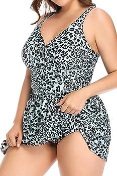 Amazon.com: PERONA Traje de baño de talla grande para mujer ...