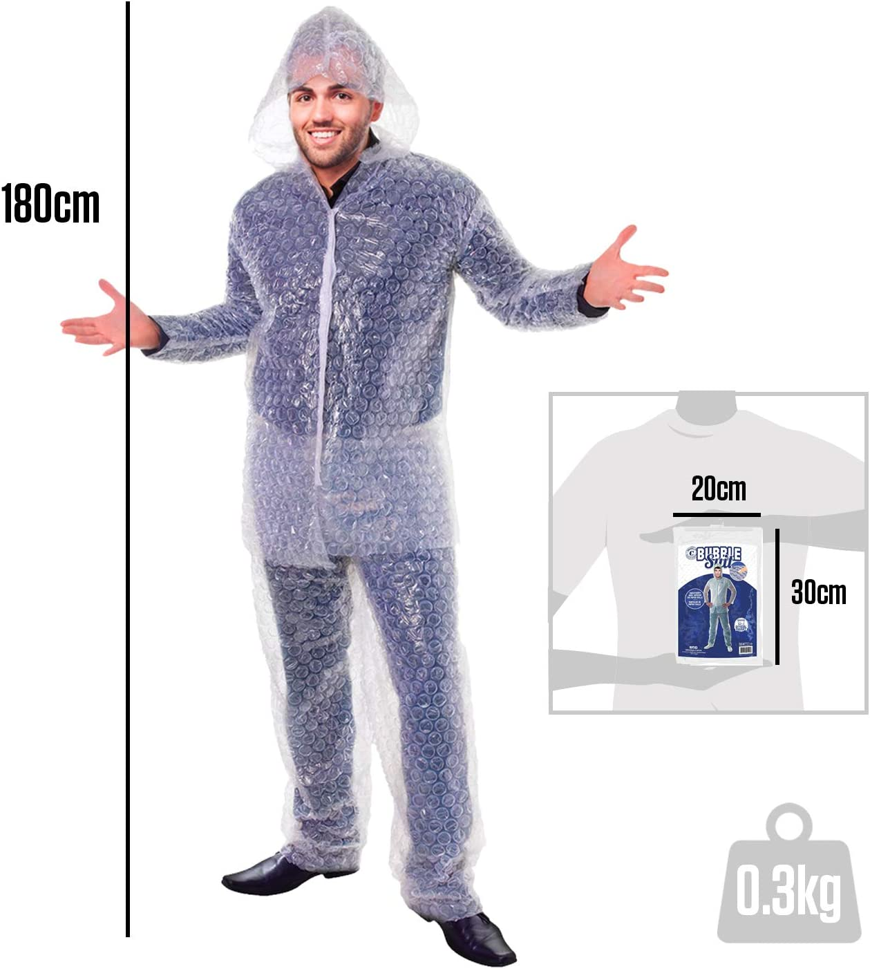 /Bubble Suit Disfraz de papel burbuja para vous /éclater vestido de cumplea/ños talla /única unisex adulto Original Cup/