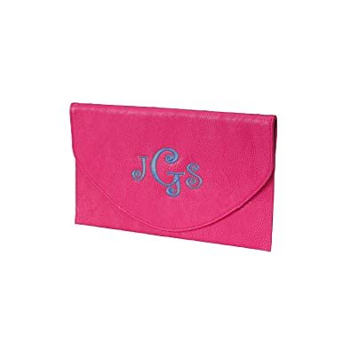 c735596557d26 Envelope Clutch with Wristlet Strap and Chain in Fun Summer ColorsCan Be  Personalized (Monogrammed