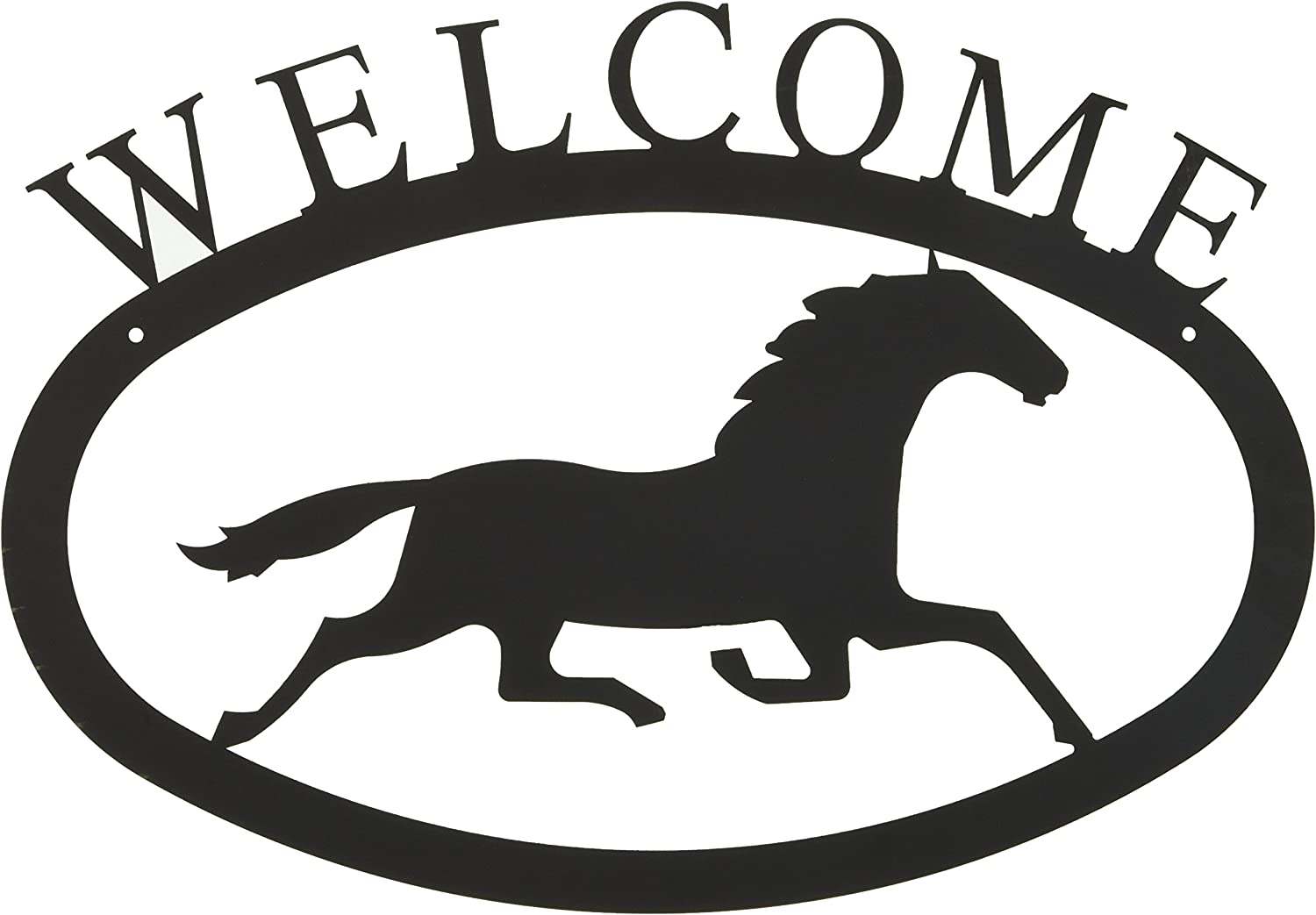 17.5 Inch Running Horse Welcome Sign Large