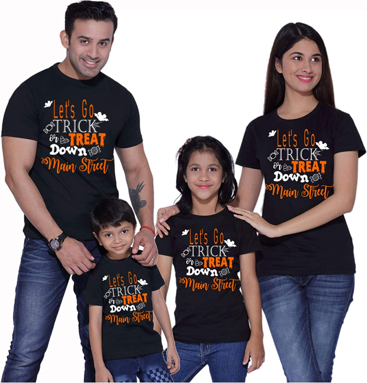 Halloween Unisex Short-Sleeve Cotton T-Shirt I Want to Trick and Treat