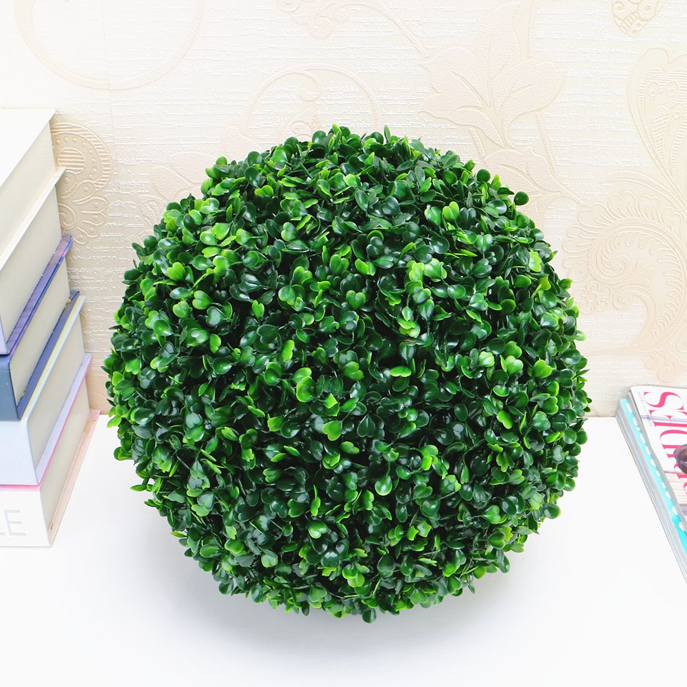 Etbotu Simulate Plastic Leave Ball Artificial Grass Ball, Home Party Wedding Decoration