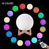 LOGROTATE Moon Lamp with Stand 16 Colors 3D Print