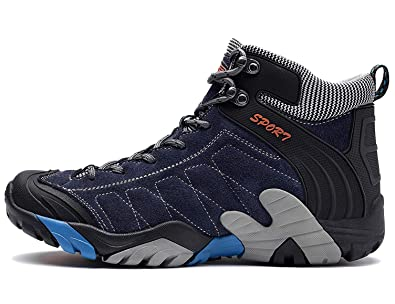 Sinoes SPORT Men s Outdoor Hiking Shoes Waterproof Leather Trekking Shoes  Low Rise Comfortable Lightweight Anti- 61d7264c5a3e