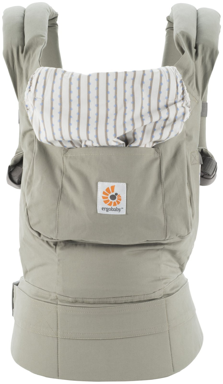 Ergobaby Original Award Winning Ergonomic Multi-Position Baby Carrier with X-Large Storage Pocket, Dew Drop