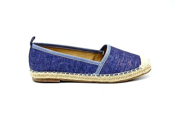 f55865f0e0c12 Oh My Shop SHP70   Espadrilles Textile Denim Jean Semelle Renforcée - Mode  Femme  Amazon.fr  Chaussures et Sacs