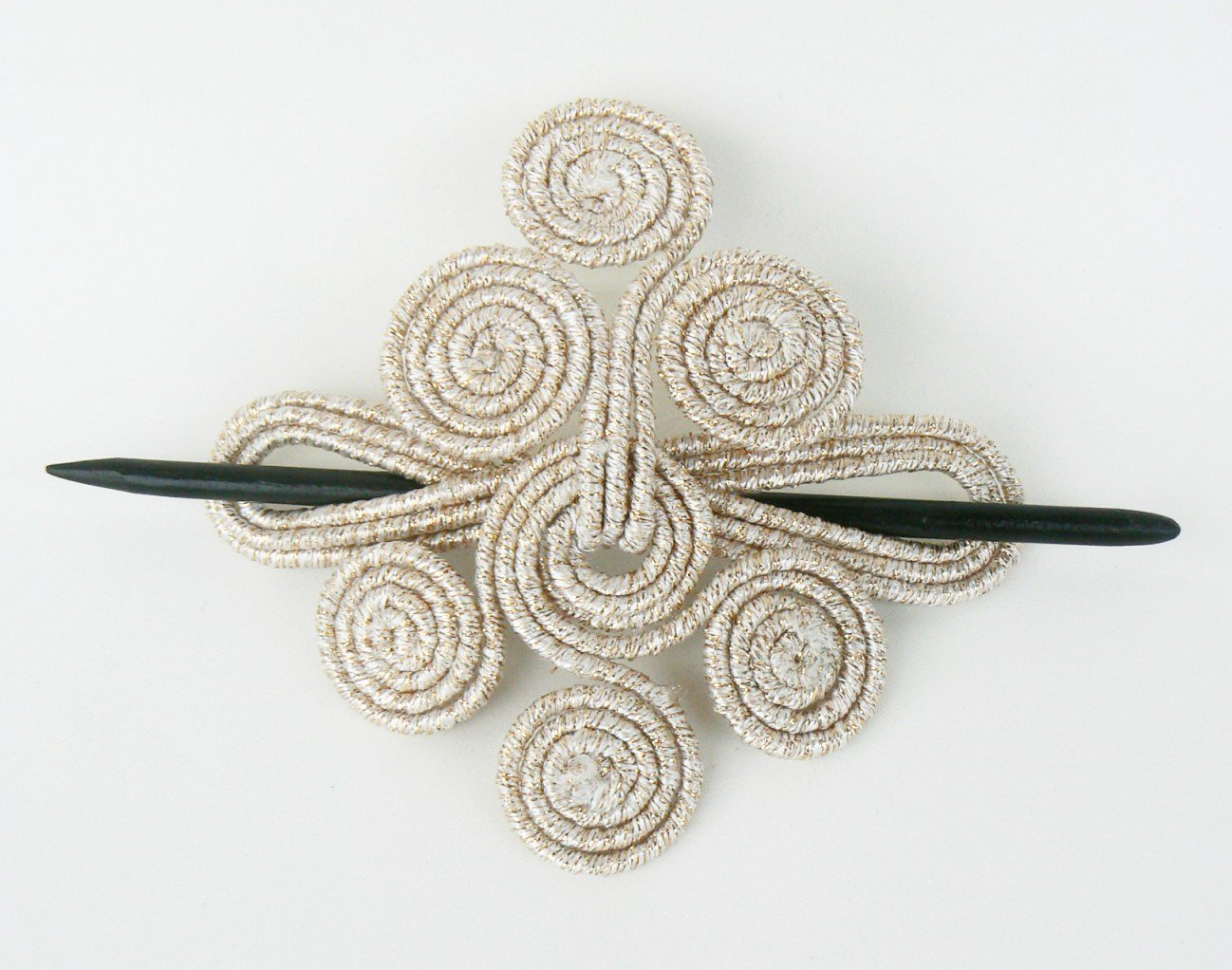 Slide barrette Artistic Hair stick accessory Shawl pin brooch Wire fascinator Headdress Gold