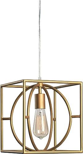 Kenroy Home 93882GLD Modern 1 Light Swag Pendant ,11 Inch Height