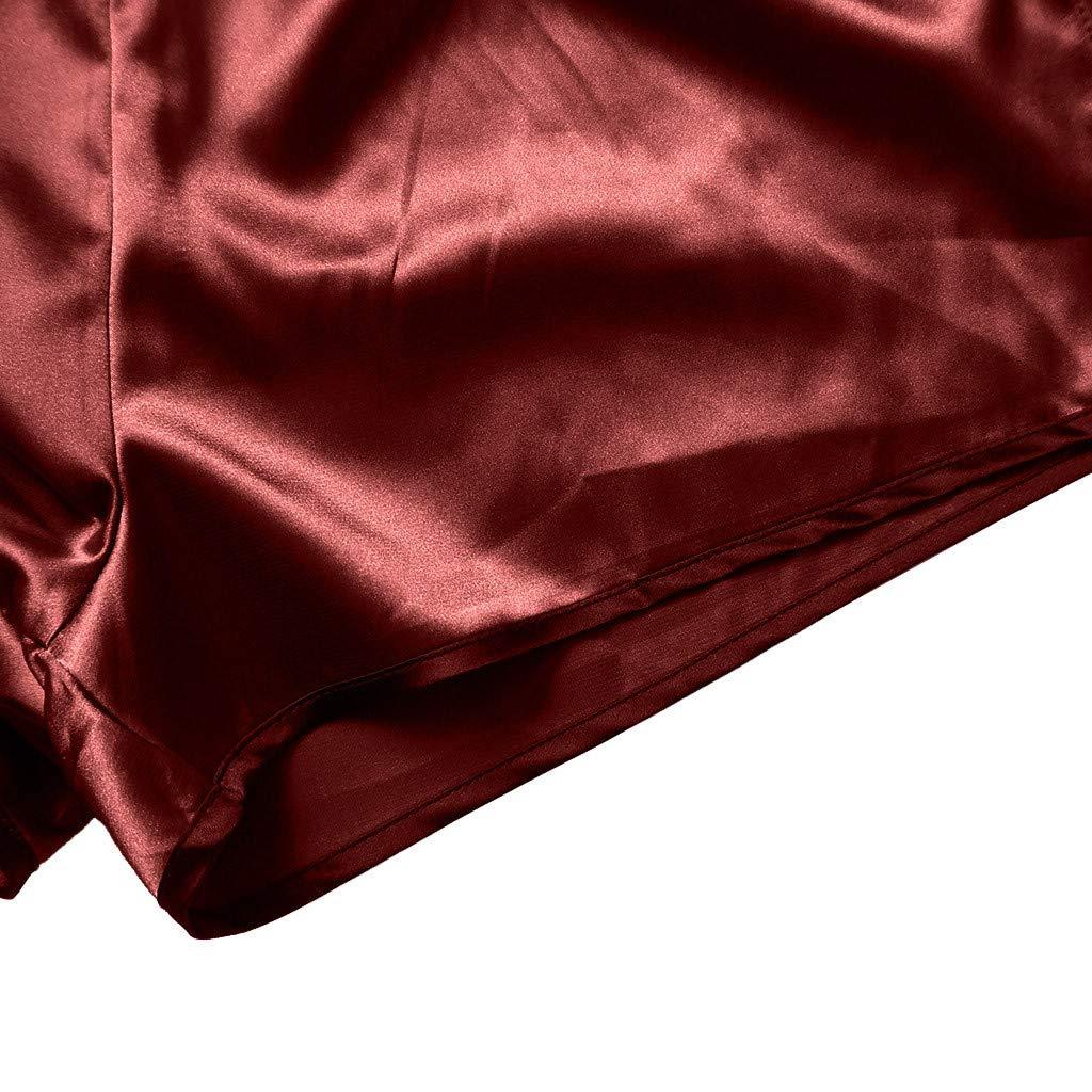 Amlaiworld Donna Breve Set Pigiami 2 Pezzi Canotta e Pantaloncini Completino da Notte per Estate