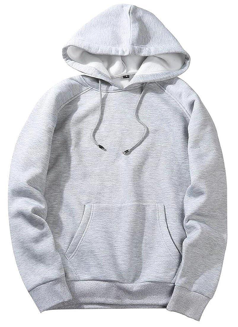 Rrive Mens Sport Hoodies Solid Pullover Sweatshirts
