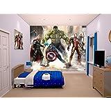 Walltastic 8 x 6 6 ft iron man mural wall paper for Avengers wall mural amazon