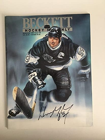 Image Unavailable. Image not available for. Color  Wayne Gretzky  Autographed Signed Beckett Magazine ... caba5d826