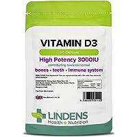 Lindens Vitamin D3 3000IU Capsules   120 Pack   UK Manufacturer