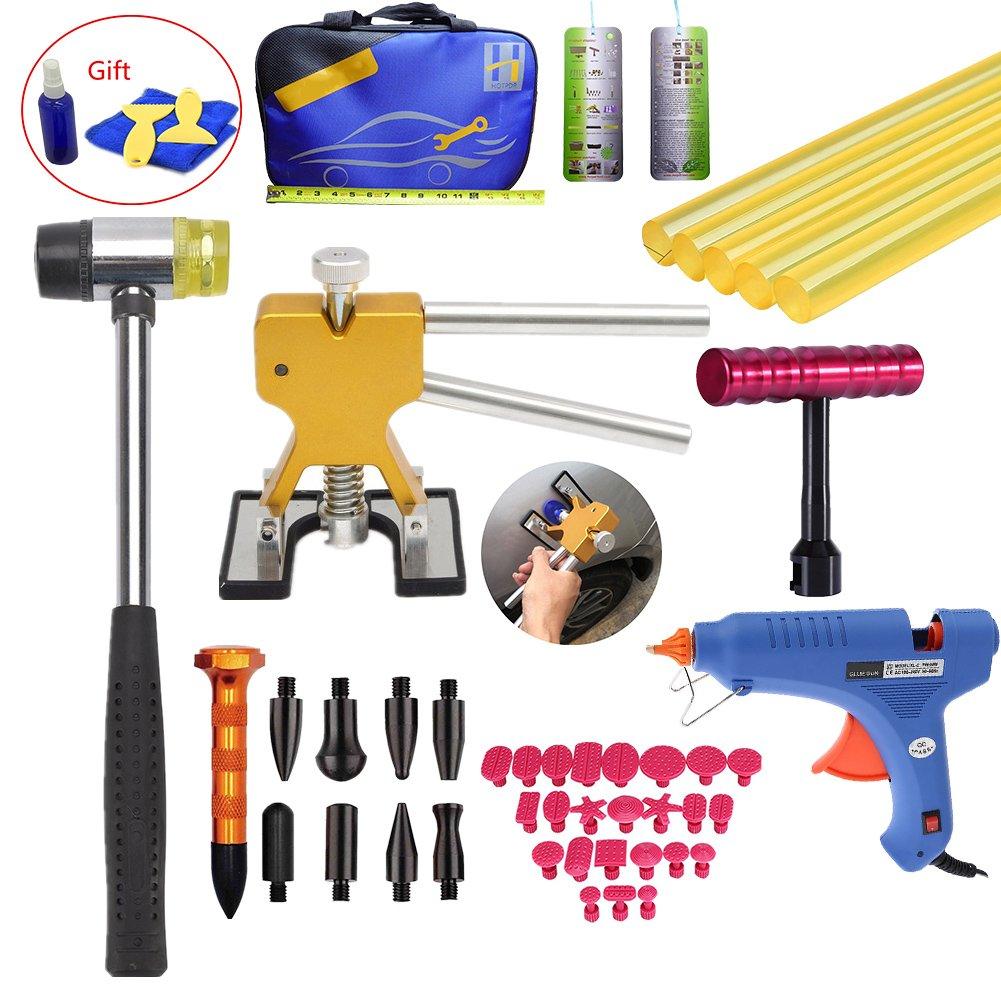 VTOLO Paintless Hail Repair PDR Dent Lifter Puller Ding Removal Tools Bag Kits