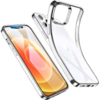 ESR Clear Case for iPhone 12, iPhone 12 Pro Case [Clear Polymer Cover] [Slim Soft Silicone] with Microdot Pattern [Anti…