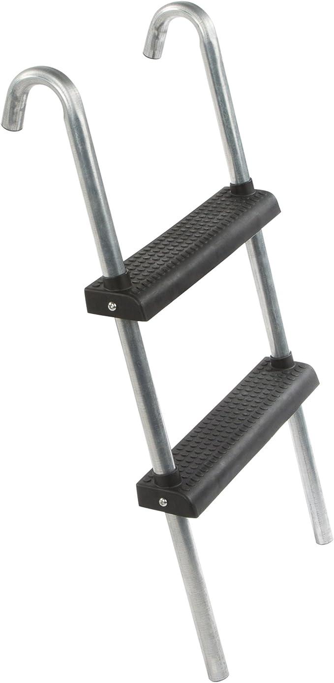 Ultrasport Escalera para cama elástica, escalera estable con 2 escalones antideslizantes, escalera de acero para colgar, accesorio compatible con trampolines con altura de entrada hasta 90 cm: Amazon.es: Deportes y aire libre